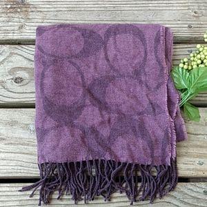Coach purple winter scarf
